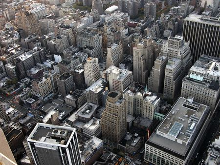 View from highest point of Empire State building on Manhattan Stok Fotoğraf - 768241
