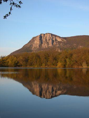 Crimea. Mountain lake view. Sunrise. Stock Photo - 835357