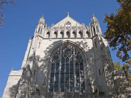 プリンストン大学のキャンパスで大聖堂