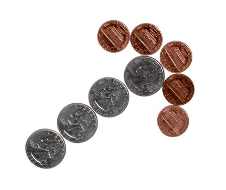 Coins isolated on white background. Money. Cash. Stock Photo - 1092468