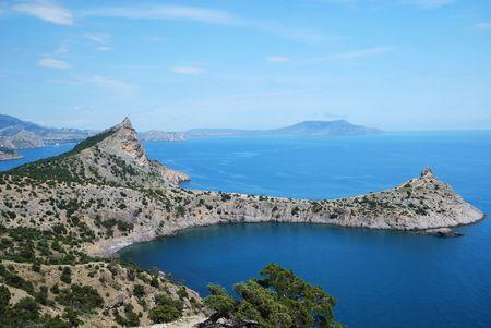 capes: The pointed capes jut far into the Black Sea. They form beautiful bays along the stony coast.