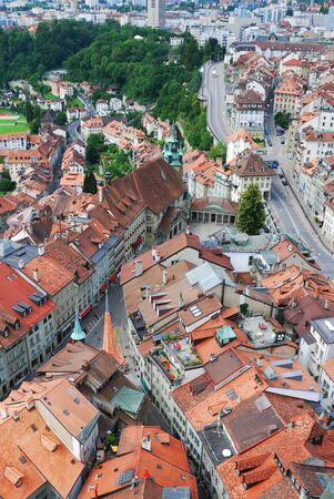 Fribourg photographed from above