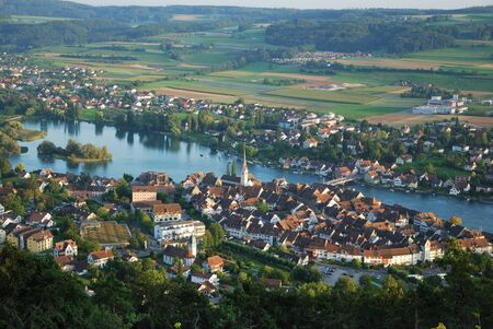 municipality: Stein am Rhein is situated at the end of Bodensee. The river Rhine flown out the lake Constance in this place. The picturesque city has a well-preserved medieval center.