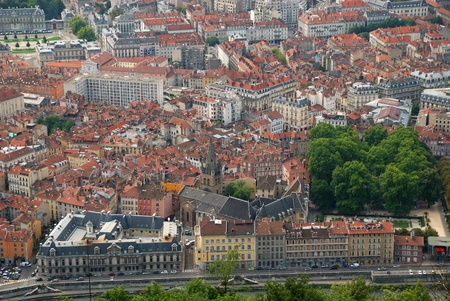 joins: Grenoble is a city in southeastern France, at the foot of the French Alps where the river Drac joins the Isere.