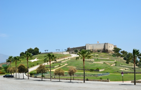 Ancient castle on the green hill of the Costa del Sol