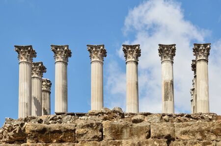 regenerated: The Spanish city of Cordoba has remains of a Roman temple. The building was situated on a podium and consisted of 26 marble columns.