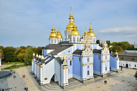 reconstructed: St. Michaels Golden-domed Monastery is a functioning monastery in Kiev. It was demolished by the Soviet authorities, but was reconstructed and opened in 1999.