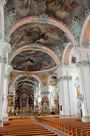 galla: La cattedrale di San Gallo � stata fotografata all'interno Questo � uno dei pi� importanti monumenti barocchi in Svizzera