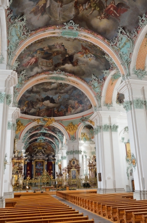 st gallen: The St  Gall cathedral is photographed on the inside  This is one of the most important baroque monuments in Switzerland