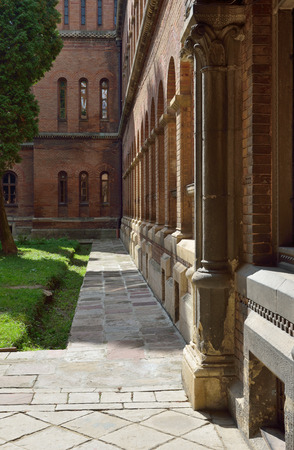famous building: Famous building of the Chernivtsi University is the bright example of the Romanesque and Byzantine architecture