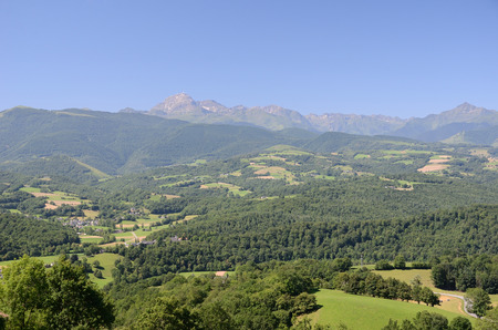 foothills: Forested foothills of the French Pyrenees