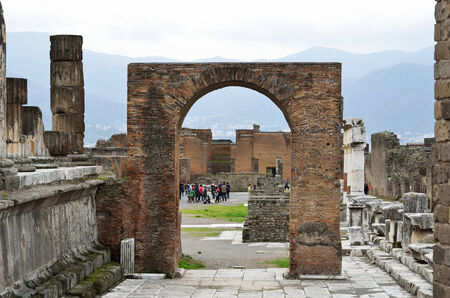 rehabilitated people: Pompeii has been a popular tourist destination for over 250 years