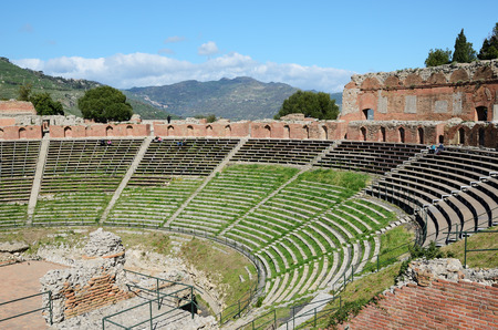 retrieved: Ancient Greek theater is the most remarkable monument remaining at Taormina  This is one of the most celebrated ruins in Sicily