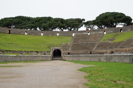 retrieved: The Amphitheatre of Pompeii is the oldest surviving Roman amphitheatre.  Stock Photo