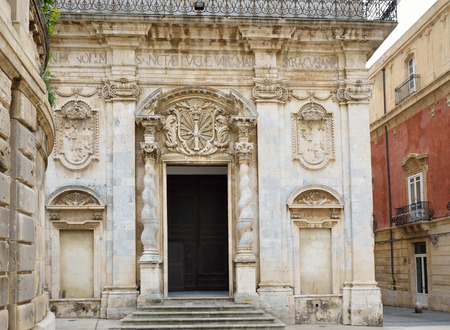 fretwork: The entire Syracuse  There are ancient edifices with fretwork in the beautiful Baroque piazza Duomo.