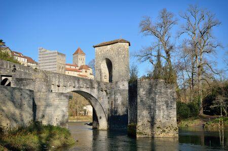 fortify: Le pont de la Legende is a medieval monument above the river Gave d