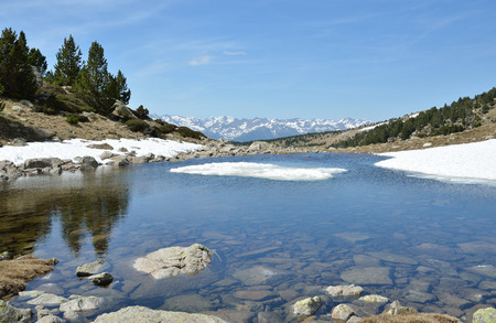 tourism in andorra: The upper part of the ValldeMadriuPerafitaClaror is an exposed glacial landscape with tarns and neves.