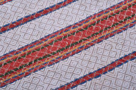 homespun: Texture of the vintage homespun linen textile with diagonal stripes