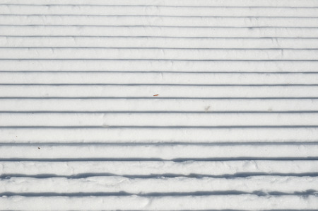 compacted: The snow surface is prepared for alpine skiing.