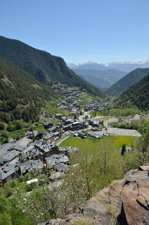 southern europe: Arinsal is a town in Andorra. This is the largest bike resort in Southern Europe. Stock Photo