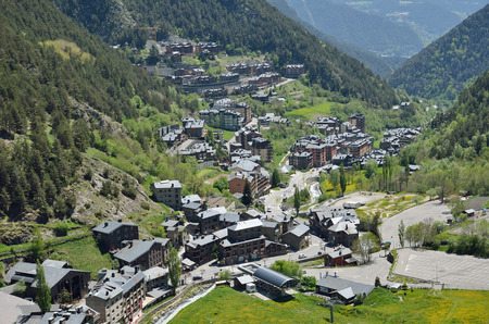 Arinsal is a town in Andorra. This is the largest bike resort in Southern Europe. Stock Photo