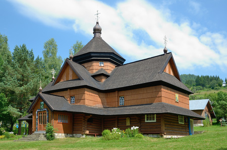 extant: Ancient wooden church in the Carpathian mountains
