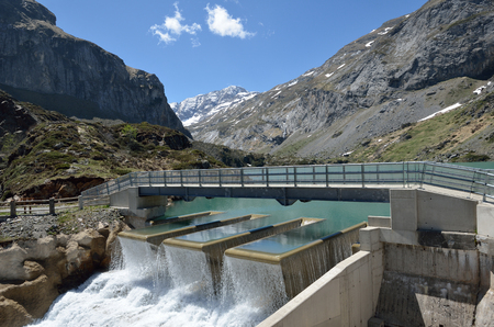 hydroelectric power station: Gloriettes dam of the hydroelectric power station on the Gave dEstaube river in the Haute Pyrenees