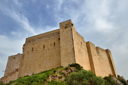 fastness: Miravet castle is the largest fortified complex in Catalonia and one of the best examples of Romanesque architecture of the Templar order. Stock Photo