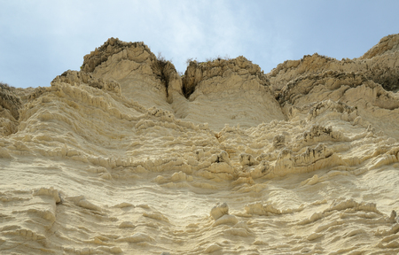 lamellar: The limestone shore cliff of the Bonifacio