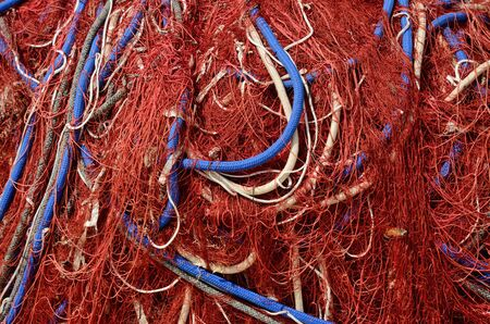 Modern meshes are usually made of artificial fibers. Stock Photo