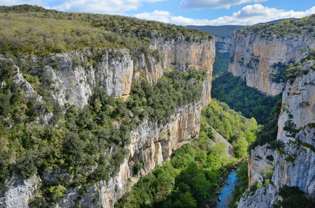 salazar: The deep fluvial gorge of Arbayun was created by the river Salazar in the foothills of the Sierra de Leire.