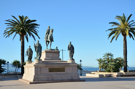 The monument dedicated to Napoleon and his four brothers is in the Place De Gaulle. It is nicknamed the inkwell in the Corsican capital Ajaccio.