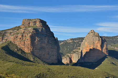 El Salto de Roldan (Roland�s Jump) is a rock formation jutting up from the flat land. It consists two conglomerate sedimentary mountains Pena San Miguel and Pena Aman.