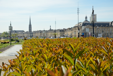 Place de la Bourse is one of the Bordeaux most recognizable sights. Stock Photo