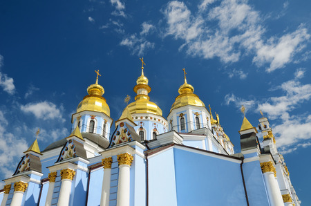 St. Michaels Golden-domed Monastery is an active monastery in Kiev. It was demolished by the Soviet authorities but was reconstructed and reopened in 1999. Stock fotó