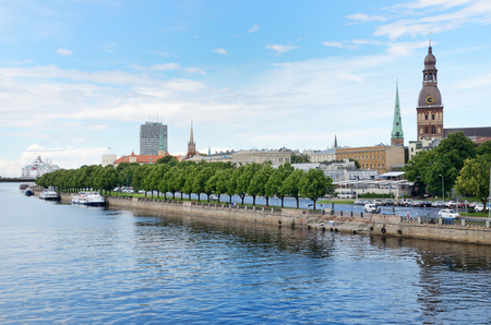 November 11 Embankment is one of the most famous streets and important transport network node in Riga.
