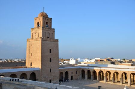 The Great Mosque in the Tunisian town Kairouan or Kairwan