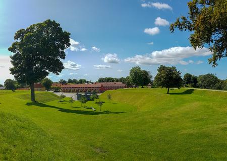 Ancient fortress Kastellet in the Danish capital Copenhagen