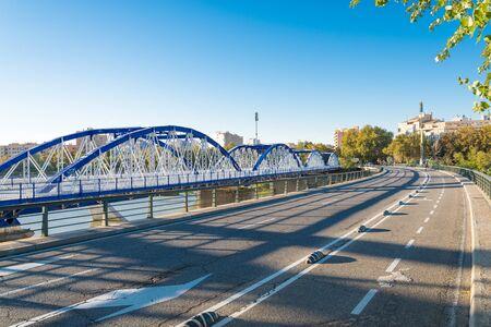 Puente del Pillar or puente de hierro is a modern bridge in the Spanish city Zaragoza.