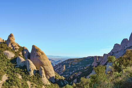 Sant Geroni height more than a kilometer, mountain Catalonia, near the Monastery of Monseratt Stock Photo