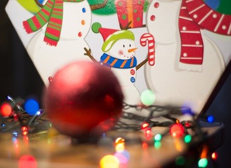 Christmas decorations,Christmas is a nice family holiday and everyone loves him,people decorate the house Stock Photo