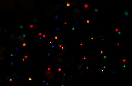 Weihnachtsbeleuchtung Bunt.Stock Photo