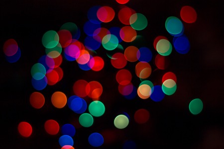 Christmas lights bright and colorful,very beautiful, the spirit of holiday tradition Stock Photo