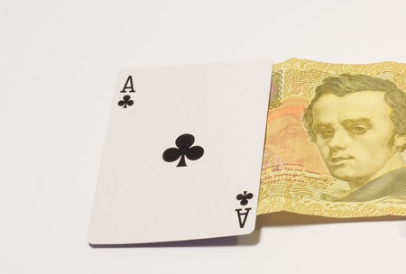 the strongest: combination of aces is the strongest card, and can be compared to people with cards, a strong and confident person later becomes an ace Stock Photo