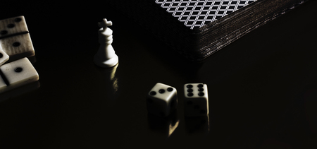 items for board games, playing dice and dominoes, many people like to play board games is a good hobby and Have a good time