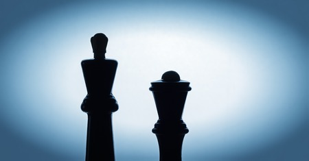 popularity: chess king silhouette on a beautiful bright background Chess is an ancient game Intelligence, invented in India