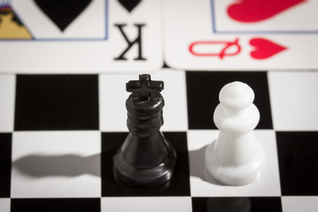 chess and card king and queen popular board games Фото со стока