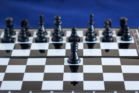 chess game of kings they are the main figures on the playing board and head their army Stock fotó