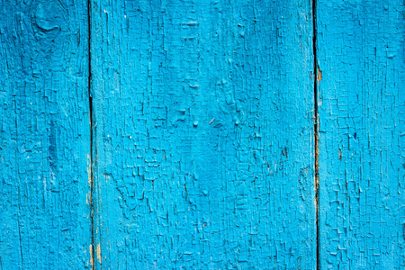 bright blue wood fence closeup texture background for design Stock Photo