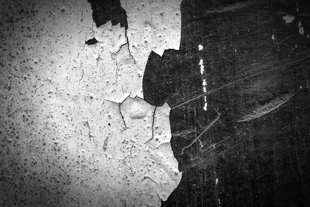 metallic black white texture with scratches and blurred ink grunge background for design Stock Photo